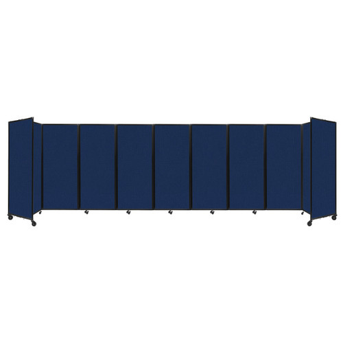 """Room Divider 360 Folding Portable Partition 25' x 6'10"""" Navy Blue Fabric"""