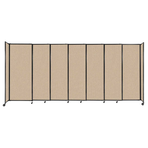 """StraightWall Sliding Portable Partition 15'6"""" x 6'10"""" Beige Fabric"""