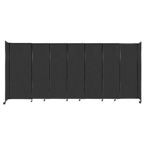"""StraightWall Sliding Portable Partition 15'6"""" x 6'10"""" Black Fabric"""