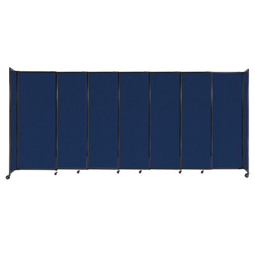 """StraightWall Sliding Portable Partition 15'6"""" x 6'10"""" Navy Blue Fabric"""