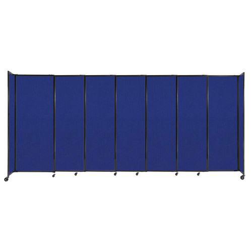 """StraightWall Sliding Portable Partition 15'6"""" x 6'10"""" Royal Blue Fabric"""