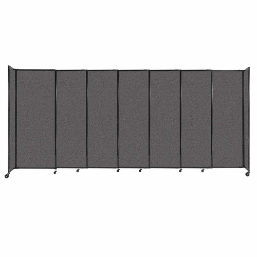 """StraightWall Sliding Portable Partition 15'6"""" x 6'10"""" Charcoal Gray Fabric"""