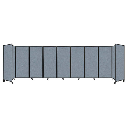 """Room Divider 360 Folding Portable Partition 25' x 6'10"""" Powder Blue Fabric"""