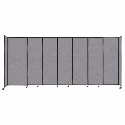 """StraightWall Sliding Portable Partition 15'6"""" x 6'10"""" Cloud Gray Fabric"""