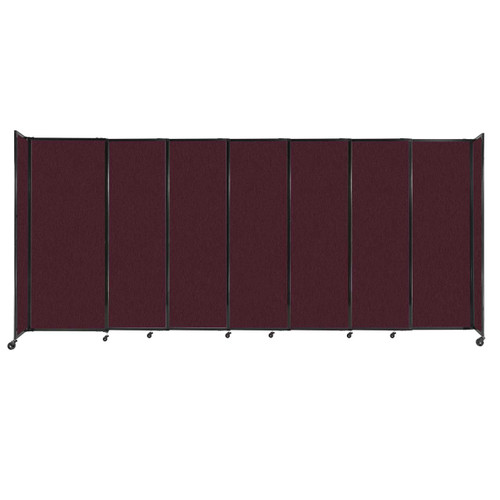 """StraightWall Sliding Portable Partition 15'6"""" x 6'10"""" Cranberry Fabric"""