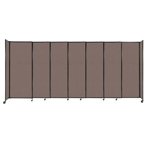 """StraightWall Sliding Portable Partition 15'6"""" x 6'10"""" Latte Fabric"""