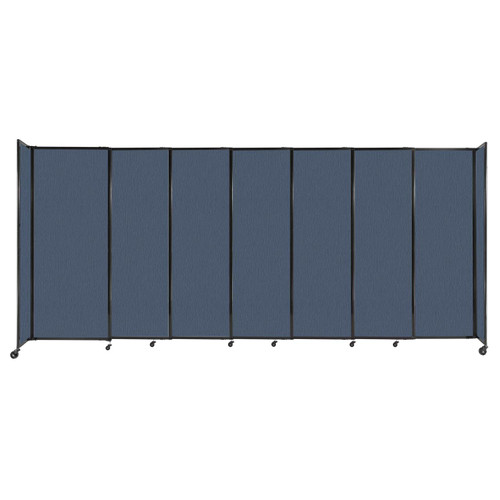 """StraightWall Sliding Portable Partition 15'6"""" x 6'10"""" Ocean Fabric"""