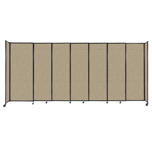 """StraightWall Sliding Portable Partition 15'6"""" x 6'10"""" Rye Fabric"""