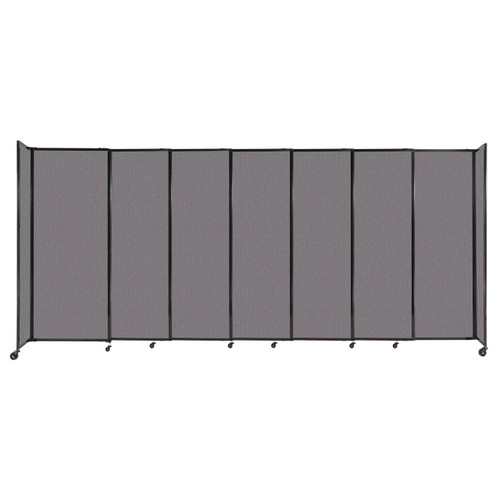 """StraightWall Sliding Portable Partition 15'6"""" x 6'10"""" Slate Fabric"""