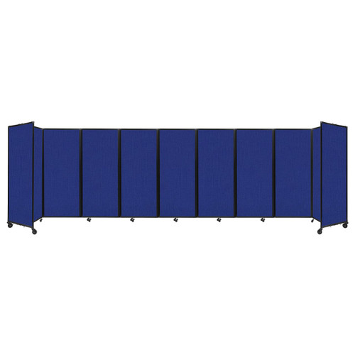 """Room Divider 360 Folding Portable Partition 25' x 6'10"""" Royal Blue Fabric"""
