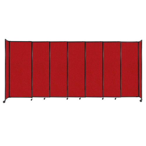 """StraightWall Sliding Portable Partition 15'6"""" x 6'10"""" Red Fabric"""