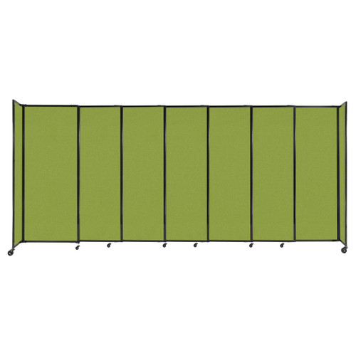 """StraightWall Sliding Portable Partition 15'6"""" x 6'10"""" Lime Green Fabric"""