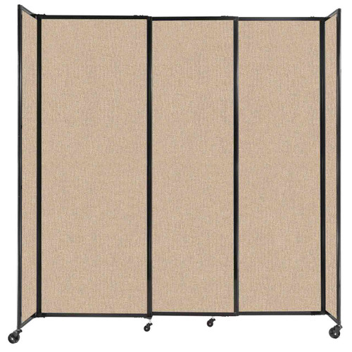 """StraightWall Sliding Portable Partition 7'2"""" x 7'6"""" Beige Fabric"""