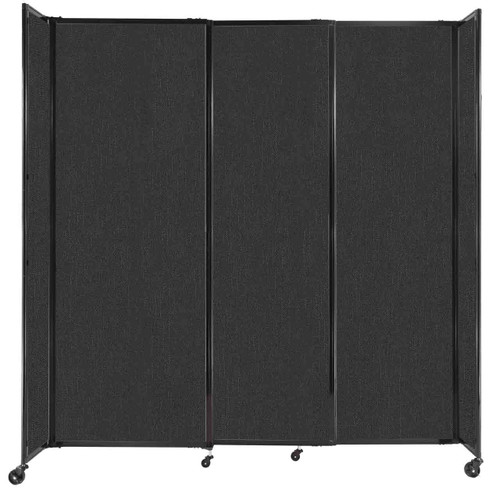 """StraightWall Sliding Portable Partition 7'2"""" x 7'6"""" Black Fabric"""