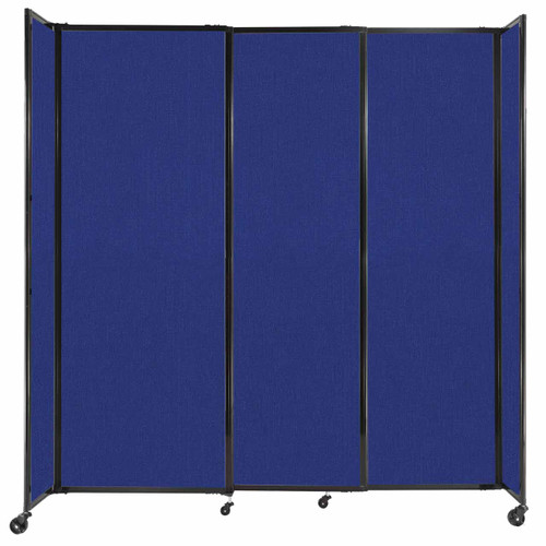 """StraightWall Sliding Portable Partition 7'2"""" x 7'6"""" Royal Blue Fabric"""