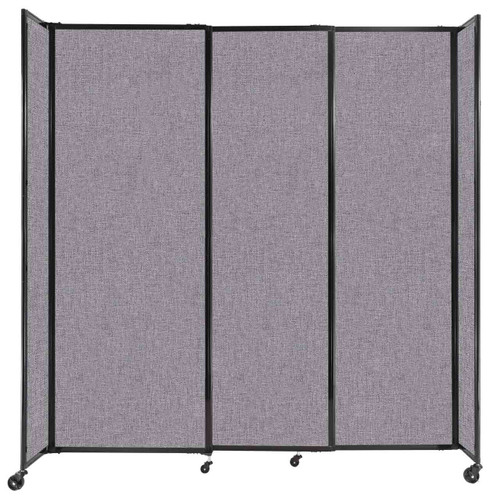 """StraightWall Sliding Portable Partition 7'2"""" x 7'6"""" Cloud Gray Fabric"""