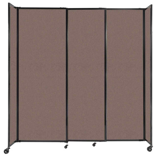 """StraightWall Sliding Portable Partition 7'2"""" x 7'6"""" Latte Fabric"""