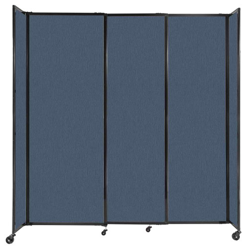 """StraightWall Sliding Portable Partition 7'2"""" x 7'6"""" Ocean Fabric"""