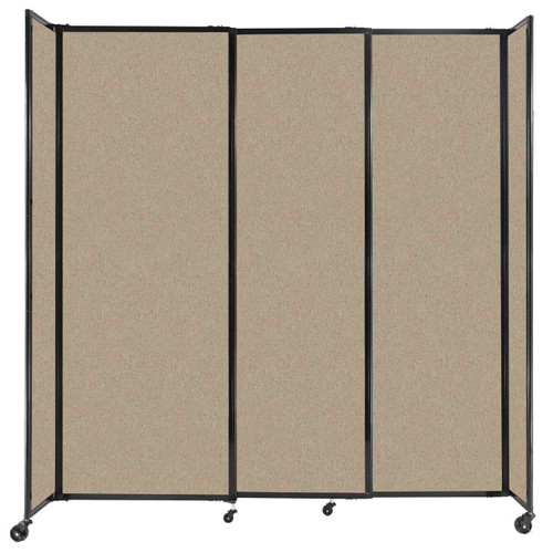 """StraightWall Sliding Portable Partition 7'2"""" x 7'6"""" Rye Fabric"""