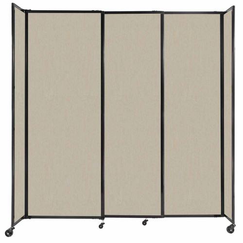 """StraightWall Sliding Portable Partition 7'2"""" x 7'6"""" Sand Fabric"""
