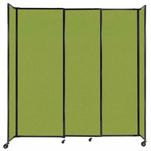 """StraightWall Sliding Portable Partition 7'2"""" x 7'6"""" Lime Green Fabric"""