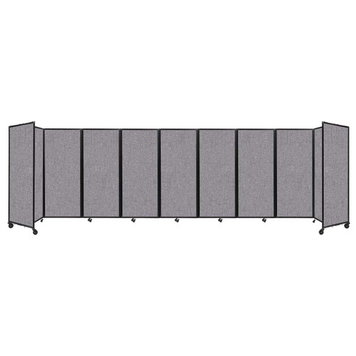 """Room Divider 360 Folding Portable Partition 25' x 6'10"""" Cloud Gray Fabric"""