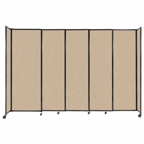 """StraightWall Sliding Portable Partition 11'3"""" x 7'6"""" Beige Fabric"""