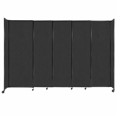 """StraightWall Sliding Portable Partition 11'3"""" x 7'6"""" Black Fabric"""