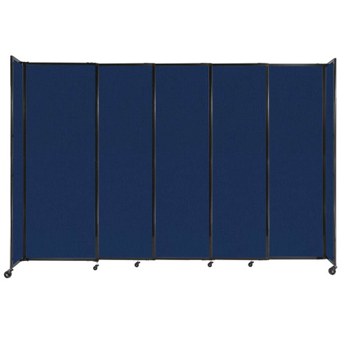 """StraightWall Sliding Portable Partition 11'3"""" x 7'6"""" Navy Blue Fabric"""