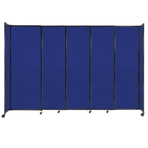 """StraightWall Sliding Portable Partition 11'3"""" x 7'6"""" Royal Blue Fabric"""