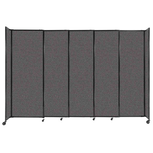 """StraightWall Sliding Portable Partition 11'3"""" x 7'6"""" Charcoal Gray Fabric"""