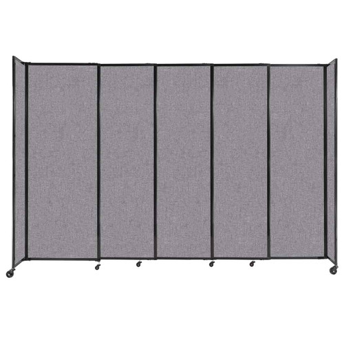 """StraightWall Sliding Portable Partition 11'3"""" x 7'6"""" Cloud Gray Fabric"""