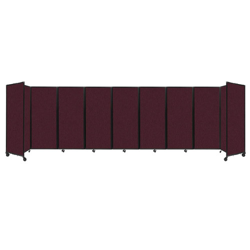 """Room Divider 360 Folding Portable Partition 25' x 6'10"""" Cranberry Fabric"""