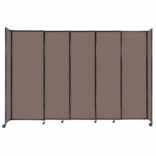 """StraightWall Sliding Portable Partition 11'3"""" x 7'6"""" Latte Fabric"""