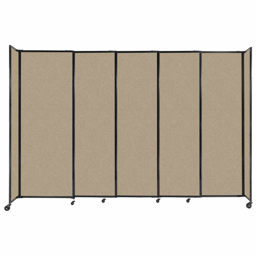 """StraightWall Sliding Portable Partition 11'3"""" x 7'6"""" Rye Fabric"""