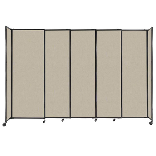 """StraightWall Sliding Portable Partition 11'3"""" x 7'6"""" Sand Fabric"""