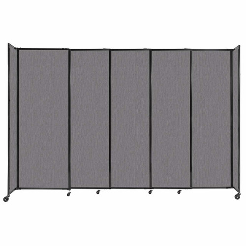 """StraightWall Sliding Portable Partition 11'3"""" x 7'6"""" Slate Fabric"""