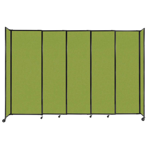 """StraightWall Sliding Portable Partition 11'3"""" x 7'6"""" Lime Green Fabric"""