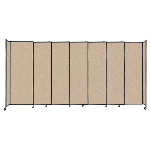 """StraightWall Sliding Portable Partition 15'6"""" x 7'6"""" Beige Fabric"""