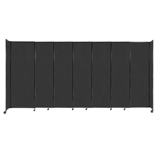 """StraightWall Sliding Portable Partition 15'6"""" x 7'6"""" Black Fabric"""