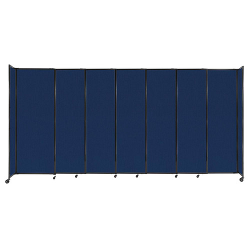 """StraightWall Sliding Portable Partition 15'6"""" x 7'6"""" Navy Blue Fabric"""