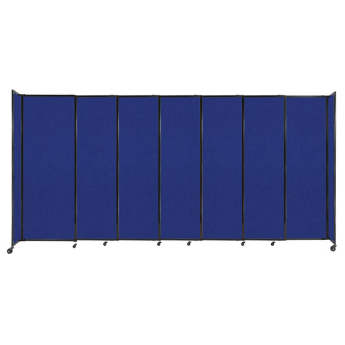 """StraightWall Sliding Portable Partition 15'6"""" x 7'6"""" Royal Blue Fabric"""