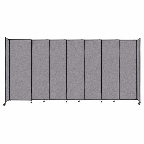 """StraightWall Sliding Portable Partition 15'6"""" x 7'6"""" Cloud Gray Fabric"""