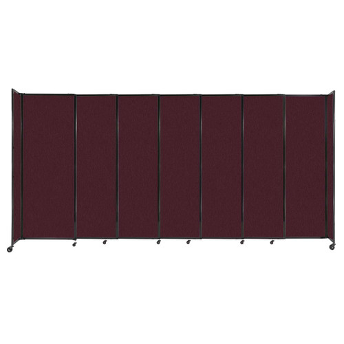 """StraightWall Sliding Portable Partition 15'6"""" x 7'6"""" Cranberry Fabric"""
