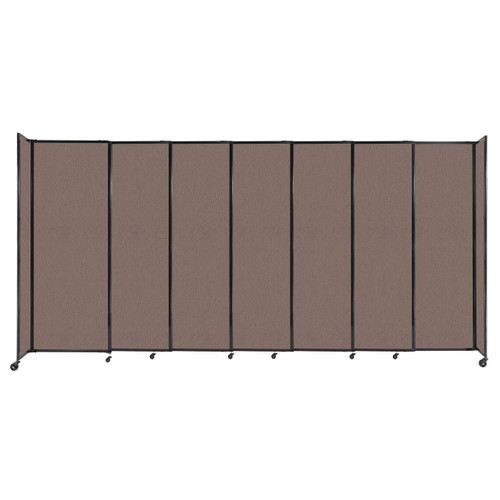 """StraightWall Sliding Portable Partition 15'6"""" x 7'6"""" Latte Fabric"""