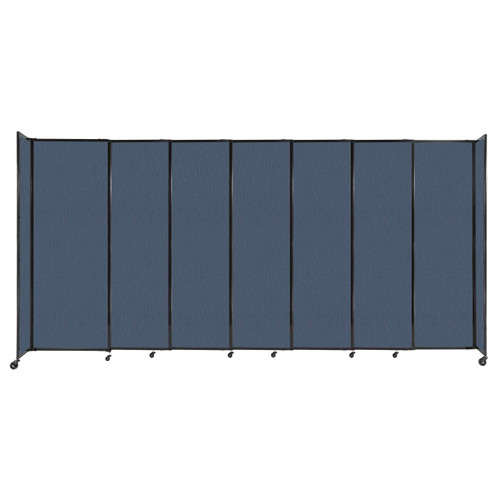 """StraightWall Sliding Portable Partition 15'6"""" x 7'6"""" Ocean Fabric"""