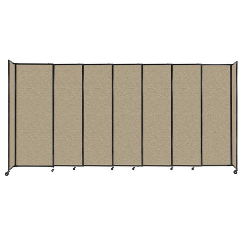 """StraightWall Sliding Portable Partition 15'6"""" x 7'6"""" Rye Fabric"""