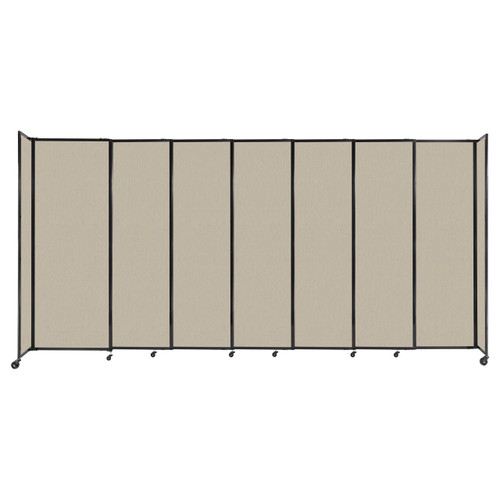 """StraightWall Sliding Portable Partition 15'6"""" x 7'6"""" Sand Fabric"""