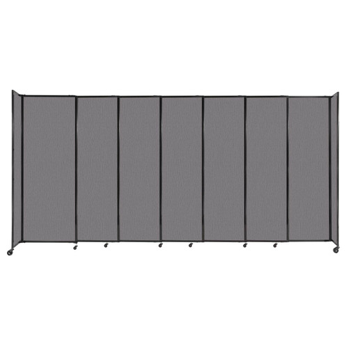 """StraightWall Sliding Portable Partition 15'6"""" x 7'6"""" Slate Fabric"""