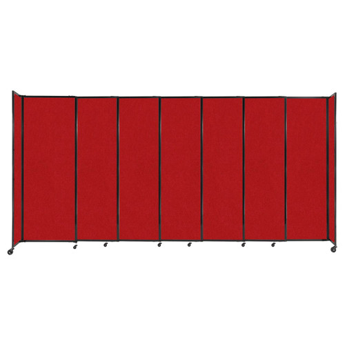 """StraightWall Sliding Portable Partition 15'6"""" x 7'6"""" Red Fabric"""